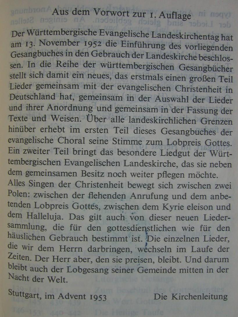 Aus dem vorwort zur 1 auflage im advent 1953