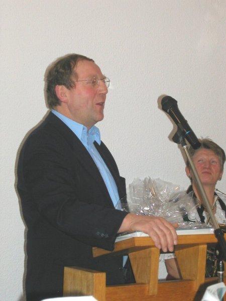 Herr Günther Erhardt - Martinroda/Thüringen - Beim Grußwort am 11.Januar 2004 in Kirchentellinsfurt
