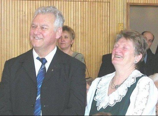 Abschiedsgottesdienst - Pfarrer Jakob Stehle mit Ehefrau Else, geb.Grupp