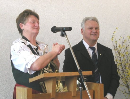 Abschiedsgottesdienst - Pfarrfrau Else Stehle, Pfarrer Jakob Stehle