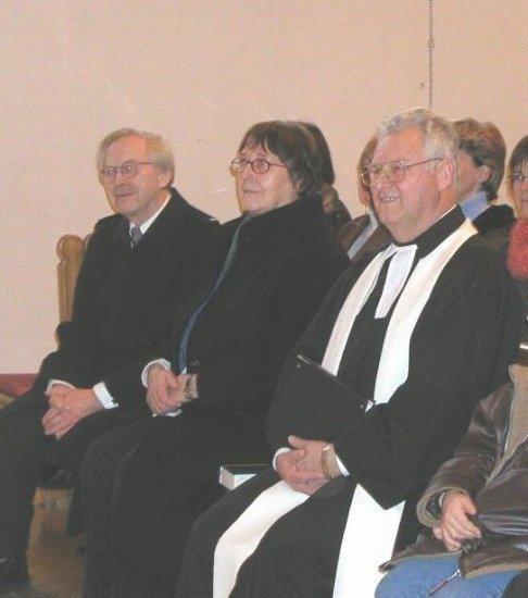 Abschiedsgottesdienst - Pfr.i.R.Roller und Frau, Pfarrer Stehle